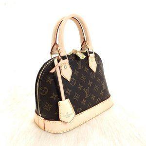 Louis Vuitton Alma BB %100 genuine leather